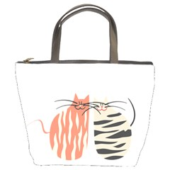Two Lovely Cats   Bucket Bags
