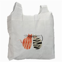 Two Lovely Cats   Recycle Bag (One Side)
