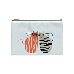 Two Lovely Cats   Cosmetic Bag (medium)