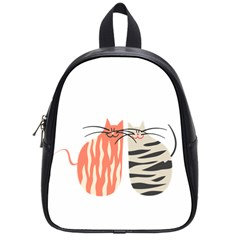Two Lovely Cats   School Bags (Small)