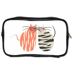 Two Lovely Cats   Toiletries Bags 2 Side
