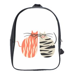 Two Lovely Cats   School Bags (XL)