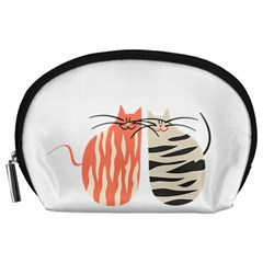 Two Lovely Cats   Accessory Pouches (large)