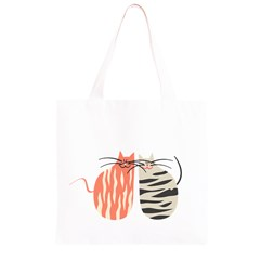 Two Lovely Cats   Grocery Light Tote Bag
