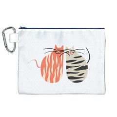 Two Lovely Cats   Canvas Cosmetic Bag (xl)