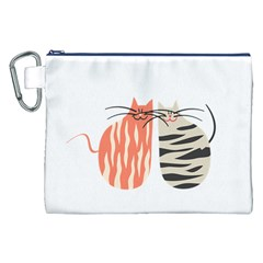 Two Lovely Cats   Canvas Cosmetic Bag (XXL)