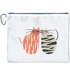 Two Lovely Cats   Canvas Cosmetic Bag (xxxl)