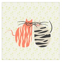 Two Lovely Cats   Large Satin Scarf (Square)