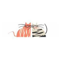 Two Lovely Cats   Satin Scarf (oblong)