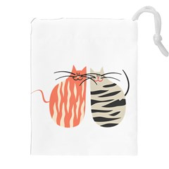 Two Lovely Cats   Drawstring Pouches (xxl)