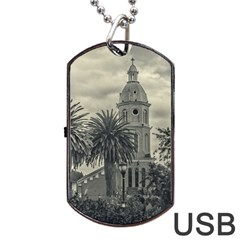 San Luis Church Otavalo Ecuador Dog Tag Usb Flash (two Sides)