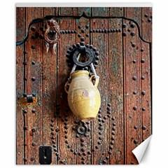 Oriental Wooden Rustic Door  Canvas 8  x 10