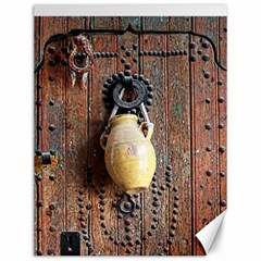 Oriental Wooden Rustic Door  Canvas 12  X 16