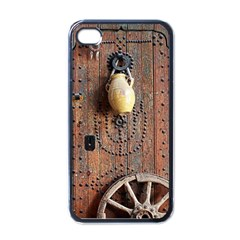 Oriental Wooden Rustic Door  Apple Iphone 4 Case (black)