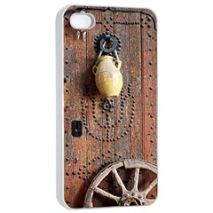 Oriental Wooden Rustic Door  Apple Iphone 4/4s Seamless Case (white)