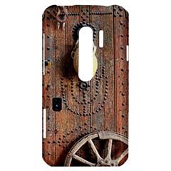 Oriental Wooden Rustic Door  HTC Evo 3D Hardshell Case