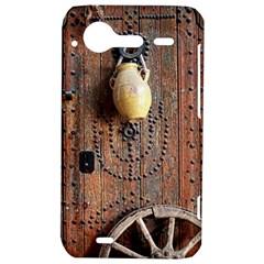 Oriental Wooden Rustic Door  HTC Incredible S Hardshell Case