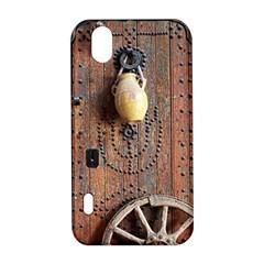 Oriental Wooden Rustic Door  LG Optimus P970
