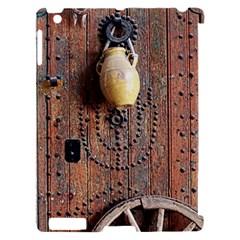Oriental Wooden Rustic Door  Apple iPad 2 Hardshell Case (Compatible with Smart Cover)