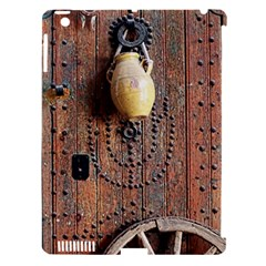 Oriental Wooden Rustic Door  Apple iPad 3/4 Hardshell Case (Compatible with Smart Cover)