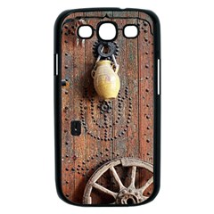 Oriental Wooden Rustic Door  Samsung Galaxy S III Case (Black)