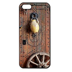 Oriental Wooden Rustic Door  Apple iPhone 5 Seamless Case (Black)