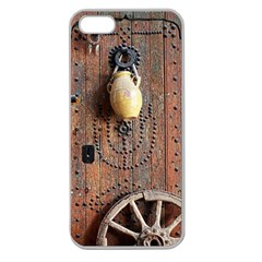 Oriental Wooden Rustic Door  Apple Seamless iPhone 5 Case (Clear)