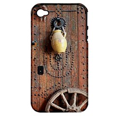 Oriental Wooden Rustic Door  Apple iPhone 4/4S Hardshell Case (PC+Silicone)