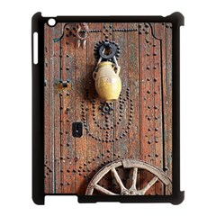 Oriental Wooden Rustic Door  Apple iPad 3/4 Case (Black)