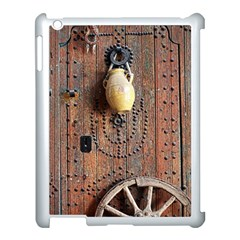 Oriental Wooden Rustic Door  Apple iPad 3/4 Case (White)