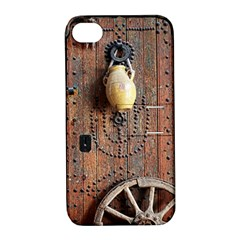 Oriental Wooden Rustic Door  Apple iPhone 4/4S Hardshell Case with Stand