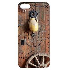 Oriental Wooden Rustic Door  Apple Iphone 5 Hardshell Case With Stand