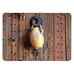 Oriental Wooden Rustic Door  Samsung Galaxy Tab 8.9  P7300 Flip Case