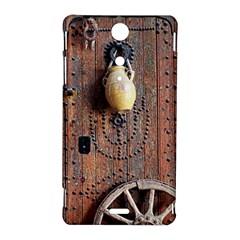 Oriental Wooden Rustic Door  Sony Xperia TX