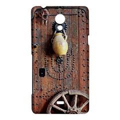 Oriental Wooden Rustic Door  Sony Xperia T