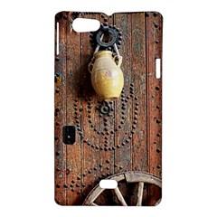 Oriental Wooden Rustic Door  Sony Xperia Miro