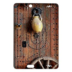 Oriental Wooden Rustic Door  Amazon Kindle Fire HD (2013) Hardshell Case
