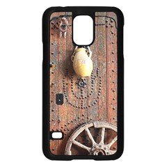 Oriental Wooden Rustic Door  Samsung Galaxy S5 Case (black)