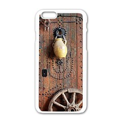 Oriental Wooden Rustic Door  Apple iPhone 6/6S White Enamel Case