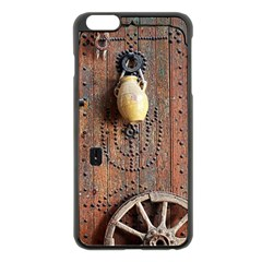 Oriental Wooden Rustic Door  Apple iPhone 6 Plus/6S Plus Black Enamel Case