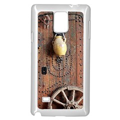 Oriental Wooden Rustic Door  Samsung Galaxy Note 4 Case (white)