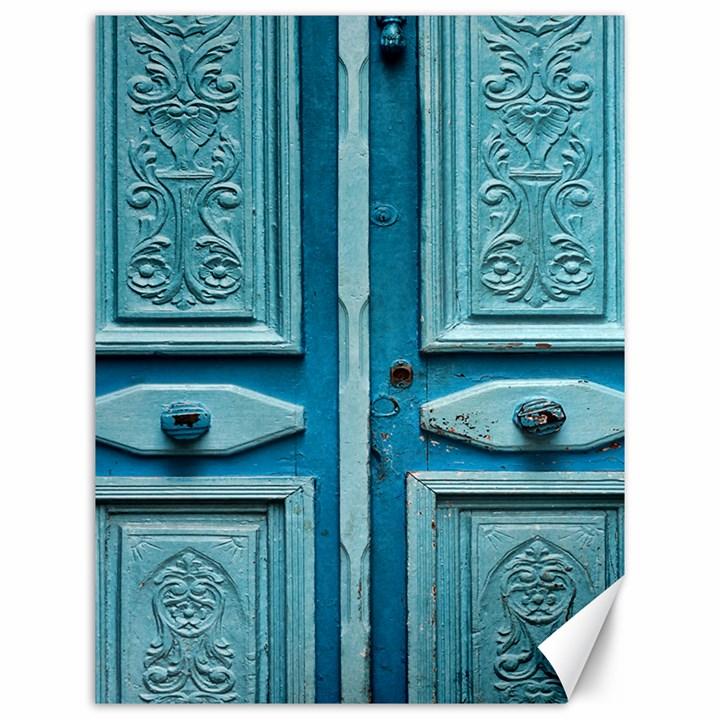 Turquoise Oriental Old Door Canvas 12  x 16