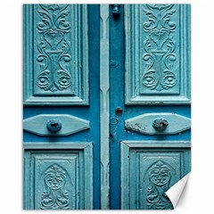 Turquoise Oriental Old Door Canvas 16  X 20