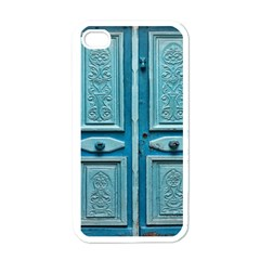 Turquoise Oriental Old Door Apple Iphone 4 Case (white)