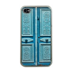 Turquoise Oriental Old Door Apple Iphone 4 Case (clear)