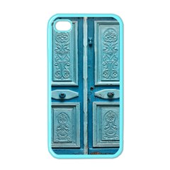 Turquoise Oriental Old Door Apple iPhone 4 Case (Color)
