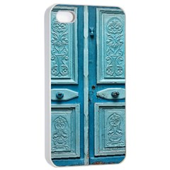 Turquoise Oriental Old Door Apple Iphone 4/4s Seamless Case (white)