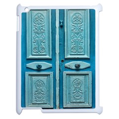 Turquoise Oriental Old Door Apple Ipad 2 Case (white)