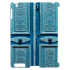 Turquoise Oriental Old Door Apple iPad 2 Hardshell Case (Compatible with Smart Cover)