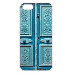 Turquoise Oriental Old Door Apple iPhone 5 Seamless Case (White)